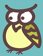 Baby Room Posters - Owl Poster by Nursery Art