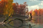 Daniel Eskridge - Owl on an Autumn Lake