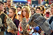 Falconers.  Metal Prints - Owl Tamers Metal Print by Ion vincent DAnu