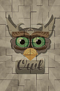 Vector Art Prints - Owl Print by Vi Ha