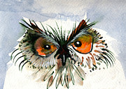 Soulful Eyes Paintings - Owlitude by Laurel Bahe