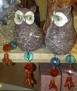 Owls Print by Barbara Yodice