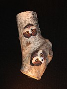 Donna Genovese - Owls Carved in Birch