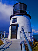 Maine Lighthouses Digital Art Prints - Owls Head Print by Mike Griffiths