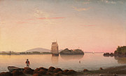 Famous Artists - Owls Head Penobscot Bay Maine by Fitz Henry Lane