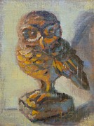 Donna Shortt Painting Metal Prints - Owly Metal Print by Donna Shortt