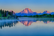 Grand Tetons Prints - Oxbow Alpenglow Print by Greg Norrell