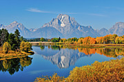 Grand Tetons Prints - Oxbow Autumn Print by Greg Norrell