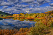 Signed Photo Prints - Oxbow Bend Autumn 2013 Print by Greg Norrell
