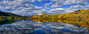Signed Print Prints - Oxbow Bend Peak Autumn Panorama Print by Greg Norrell
