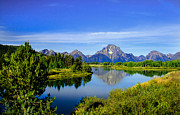 Haybales Photo Metal Prints - Oxbow Bend Metal Print by Robert Bales