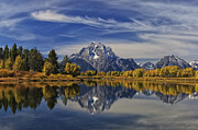 Mark Kiver Prints - Oxbow Reflections Print by Mark Kiver