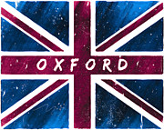 Oxford Distressed Union Jack Flag Print by Mark E Tisdale