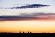 Fiery Clouds Framed Prints - Oxford Dreaming Spires Framed Print by Tim Gainey
