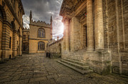 University School Framed Prints - Oxford University - History-Sheldonian-Divinity Framed Print by Yhun Suarez