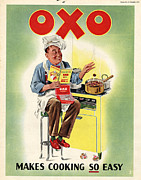 Featured Metal Prints - Oxo 1950s Uk Chefs Cooking Metal Print by The Advertising Archives