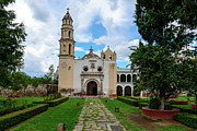 Franciscans Posters - Oxtotipac church and monastery Mexico Poster by Marek Poplawski