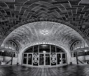 Terminal Photos - Oyster Bar BW by Susan Candelario