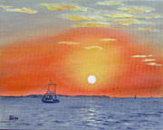 Oyster Originals - Oyster Boat Sunrise by Jimmie Bartlett