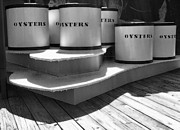 Monotone Prints - Oyster Containers Print by Steven Ainsworth