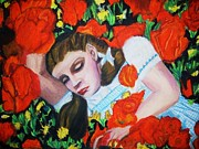 Fantasy Pastels - Oz Sleeping In The Poppies by Jo-Ann Hayden