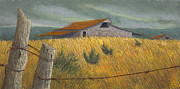 Barn Pastels Prints - Ozark Barn Madison County Print by Garry McMichael