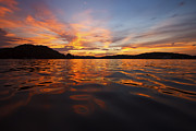 Boating Lake Photos - Ozark Sunset by Dennis Hedberg