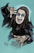 Black Pastels Originals - Ozzy Osbourne by Melanie D