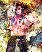 80s Painting Posters - Ozzy Osbourne Original  Poster by Ryan Rabbass