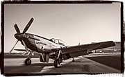 North American P51 Mustang Photo Posters - P-51 Mustang v4 Poster by F Leblanc