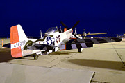 North American P-51 Mustang Framed Prints - P-51D Mustang Man O War  Mesa Gateway March 2 2013 Framed Print by Brian Lockett