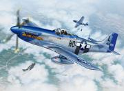 Force Digital Art Posters - P-51D Mustang The Hawk-Eye-Owan Poster by Stu Shepherd
