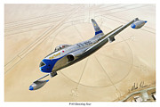 Edwards Digital Art - P-80 Shooting Star by Mark Karvon