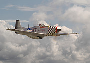 Fighter Aircraft Prints - P51 - Doll Print by Pat Speirs