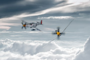 North American P51 Mustang Digital Art Posters - P51 Mustang - Old Crow Poster by James Biggadike
