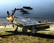 P51 Photo Posters - P51 Mustang Bratt III Poster by Tim Rutz