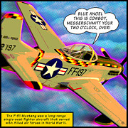Lichtenstein Framed Prints - P51 Mustang Framed Print by Gary Grayson
