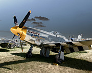 P51 Photo Posters - P51 Mustang Geraldine Poster by Tim Rutz