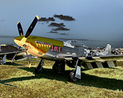 P51 Photo Posters - P51 Mustang LOU IV Poster by Tim Rutz