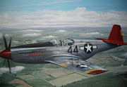 P51 Mustang Originals - P51 Mustang Red Tail  by Phil Christman