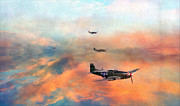 North American P51 Mustang Digital Art Posters - P51 Painted Poster by Jason Green