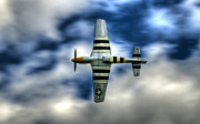 North American P51 Mustang Photo Posters - P51D Mustang Ferocious Frankie Poster by Phil
