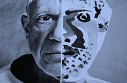 Pablo Picasso Digital Art Prints - Pablo Cyan Print by Rob Hans
