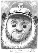 Mlb Baseball Drawings Originals - Pablo Kung Fu Panda Sandoval by Bas Van Sloten