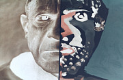 Pablo Picasso Digital Art Prints - Pablo Negative Print by Rob Hans