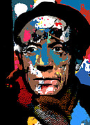 Pablo Picasso Digital Art Prints - Pablo Picasso Print by Allen Glass