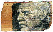 Old Reliefs Originals - Pablo Picasso Face Portrait - Painting On The Wood by Nenad  Cerovic