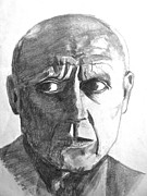 Pablo Drawings Posters - Pablo Picasso Poster by Linda Williams