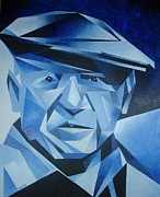 Portaits Prints - Pablo Picasso The Blue Period Print by Tracey Harrington-Simpson