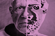 Pablo Picasso Digital Art Prints - Pablo Pink Print by Rob Hans